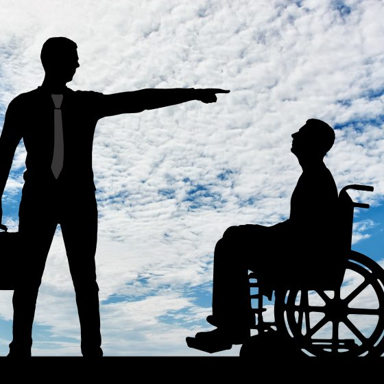 Employer refuses the disabled person in a Wheelchair to Employ